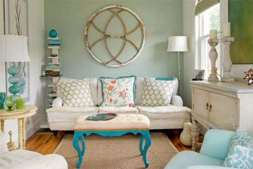 House of turquoise cute living room ginger twine for Cute living room ideas